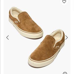 Madewell x Vans® Unisex Slip-On Sneakers in Sherpa
